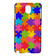 Funny Colorful Jigsaw Puzzle Samsung Galaxy Note 3 N9005 Hardshell Case