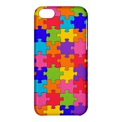 Funny Colorful Jigsaw Puzzle Apple Iphone 5c Hardshell Case