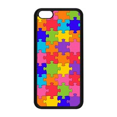 Funny Colorful Jigsaw Puzzle Apple Iphone 5c Seamless Case (black)