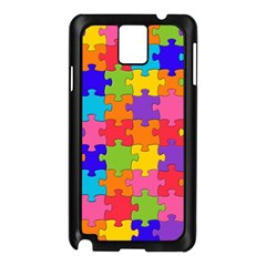 Funny Colorful Jigsaw Puzzle Samsung Galaxy Note 3 N9005 Case (black)