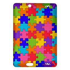 Funny Colorful Jigsaw Puzzle Amazon Kindle Fire Hd (2013) Hardshell Case