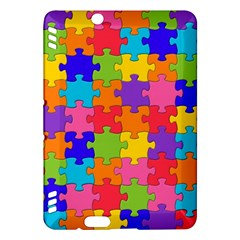 Funny Colorful Jigsaw Puzzle Kindle Fire Hdx Hardshell Case