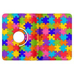 Funny Colorful Jigsaw Puzzle Kindle Fire Hdx Flip 360 Case