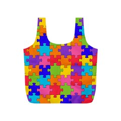 Funny Colorful Jigsaw Puzzle Full Print Recycle Bags (s)