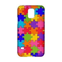 Funny Colorful Jigsaw Puzzle Samsung Galaxy S5 Hardshell Case
