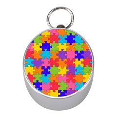 Funny Colorful Jigsaw Puzzle Mini Silver Compasses