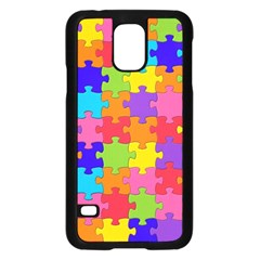 Funny Colorful Jigsaw Puzzle Samsung Galaxy S5 Case (black)