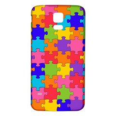 Funny Colorful Jigsaw Puzzle Samsung Galaxy S5 Back Case (white)