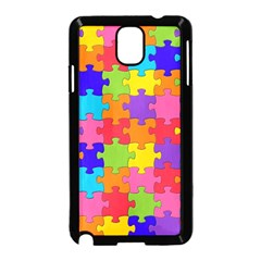 Funny Colorful Jigsaw Puzzle Samsung Galaxy Note 3 Neo Hardshell Case (black)