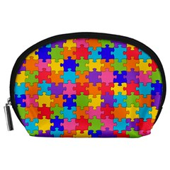Funny Colorful Jigsaw Puzzle Accessory Pouches (large)