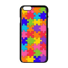 Funny Colorful Jigsaw Puzzle Apple Iphone 6/6s Black Enamel Case