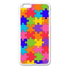 Funny Colorful Jigsaw Puzzle Apple Iphone 6 Plus/6s Plus Enamel White Case