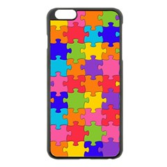 Funny Colorful Jigsaw Puzzle Apple Iphone 6 Plus/6s Plus Black Enamel Case