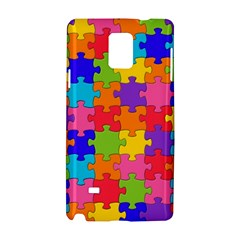 Funny Colorful Jigsaw Puzzle Samsung Galaxy Note 4 Hardshell Case