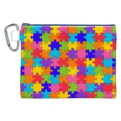Funny Colorful Jigsaw Puzzle Canvas Cosmetic Bag (xxl)