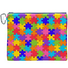Funny Colorful Jigsaw Puzzle Canvas Cosmetic Bag (xxxl)