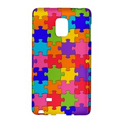 Funny Colorful Jigsaw Puzzle Galaxy Note Edge