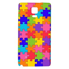 Funny Colorful Jigsaw Puzzle Galaxy Note 4 Back Case
