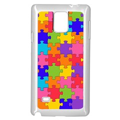Funny Colorful Jigsaw Puzzle Samsung Galaxy Note 4 Case (white)