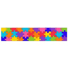 Funny Colorful Jigsaw Puzzle Flano Scarf (small)