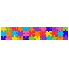 Funny Colorful Jigsaw Puzzle Flano Scarf (large)