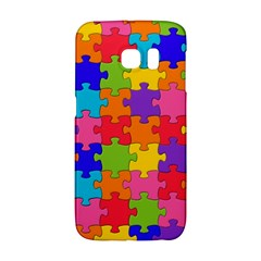 Funny Colorful Jigsaw Puzzle Galaxy S6 Edge