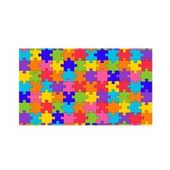 Funny Colorful Jigsaw Puzzle Satin Wrap