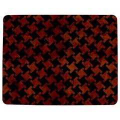Houndstooth2 Black Marble & Brown Burl Wood Jigsaw Puzzle Photo Stand (rectangular)