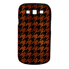 Houndstooth1 Black Marble & Brown Burl Wood Samsung Galaxy S Iii Classic Hardshell Case (pc+silicone)