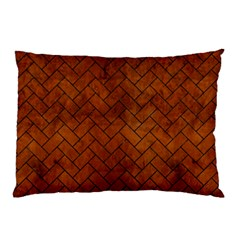 Brick2 Black Marble & Brown Burl Wood (r) Pillow Case (two Sides)