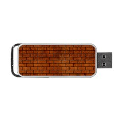 Brick1 Black Marble & Brown Burl Wood (r) Portable Usb Flash (two Sides)