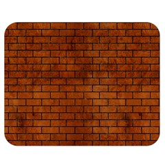 Brick1 Black Marble & Brown Burl Wood (r) Double Sided Flano Blanket (medium)