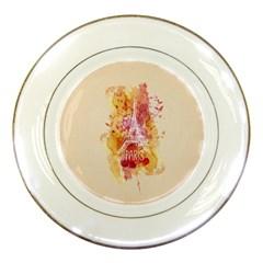 Paris With Watercolor Porcelain Plates