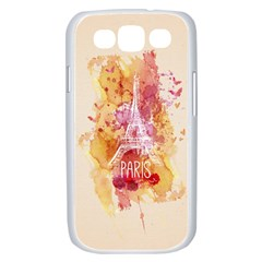 Paris With Watercolor Samsung Galaxy S III Case (White)