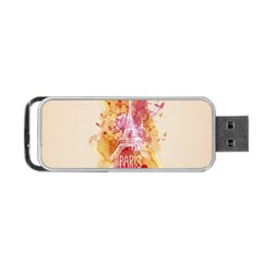 Paris With Watercolor Portable USB Flash (One Side)