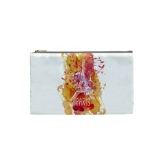 Paris   Mon Amour   With Watercolor Cosmetic Bag (Small)