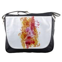 Paris   Mon Amour   With Watercolor Messenger Bags