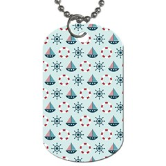 Nautical Elements Pattern Dog Tag (Two Sides)