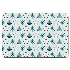 Nautical Elements Pattern Large Doormat