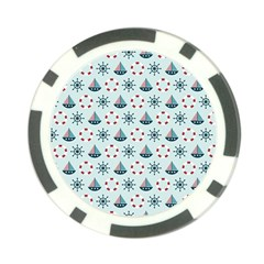Nautical Elements Pattern Poker Chip Card Guards (10 pack)