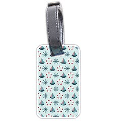 Nautical Elements Pattern Luggage Tags (Two Sides)
