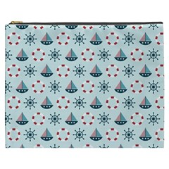Nautical Elements Pattern Cosmetic Bag (XXXL)