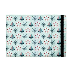 Nautical Elements Pattern Apple iPad Mini Flip Case