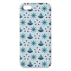 Nautical Elements Pattern Apple iPhone 5 Premium Hardshell Case