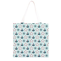 Nautical Elements Pattern Grocery Light Tote Bag