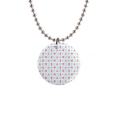 Seamless Nautical Pattern Button Necklaces