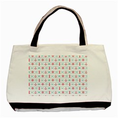 Seamless Nautical Pattern Basic Tote Bag