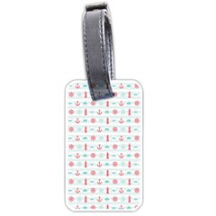 Seamless Nautical Pattern Luggage Tags (One Side)
