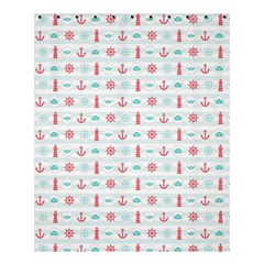 Seamless Nautical Pattern Shower Curtain 60  x 72  (Medium)