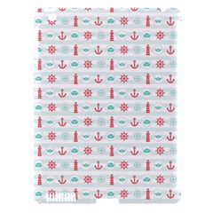 Seamless Nautical Pattern Apple iPad 3/4 Hardshell Case (Compatible with Smart Cover)